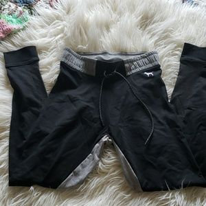 PINK Victoria's Secret Pants - Black and Gray Yoga Pants S by PINK
